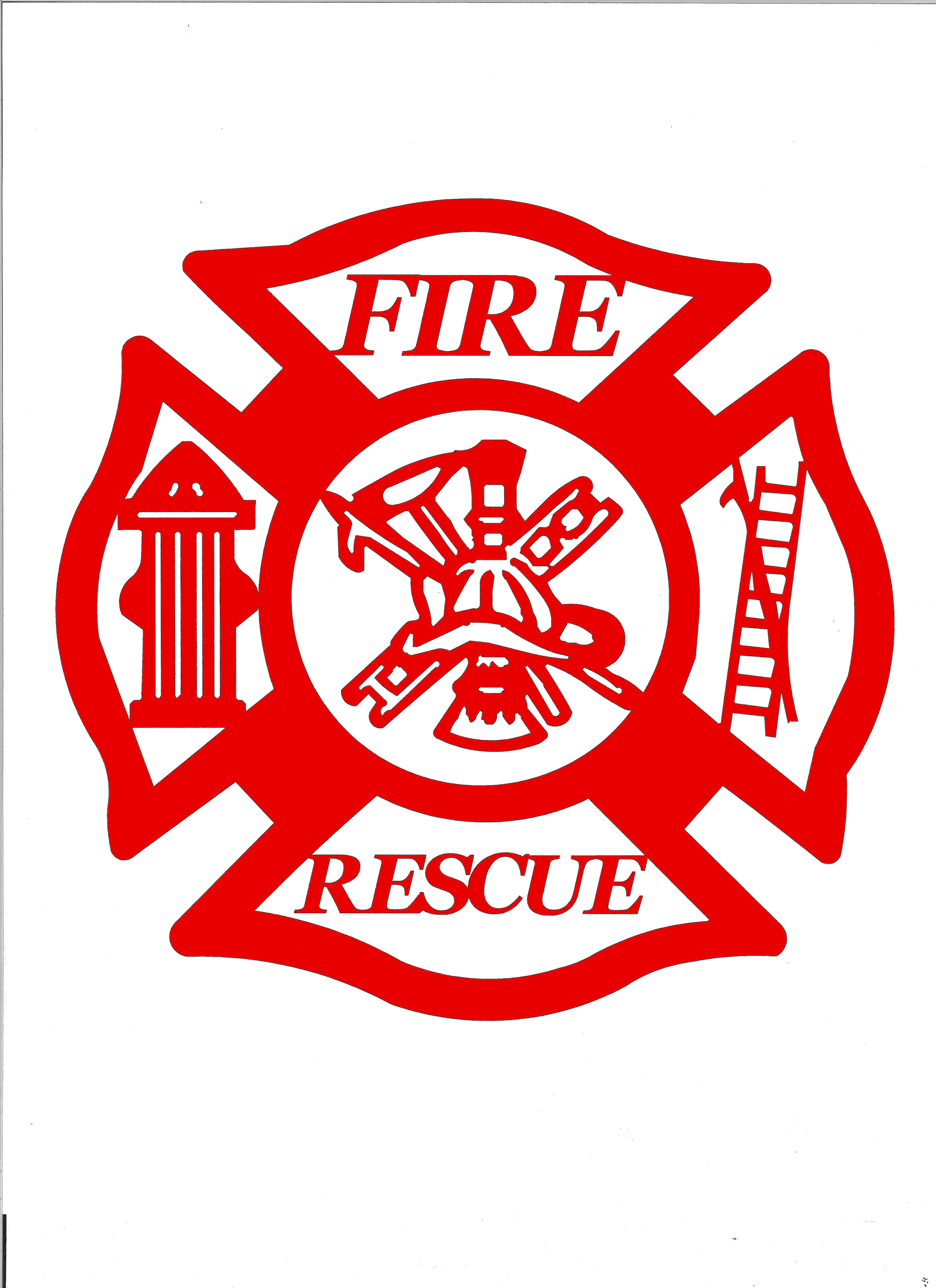 fire and rescue providence metal art